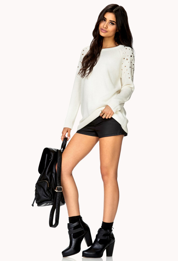 Forever 21 Total Stud Cable Knit Sweater