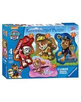 Paw Patrol 4 Shaped Jigsaw Puzzles