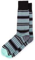 Paul Smith Spin Striped Socks, Black