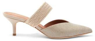Malone Souliers Maisie Kitten-heel Leather Mules - Womens - Grey