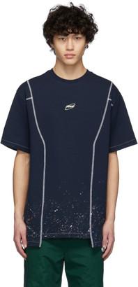 Ader Error Navy Cosmos Logo T-Shirt