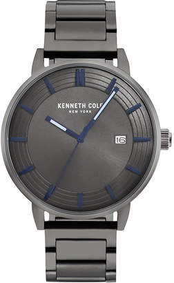 Kenneth Cole New York Men Gun Metal Bracelet Watch 44mm
