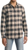 True Grit Vintage Melange Buffalo Check Flannel Shirt - Long Sleeve (For Men)