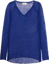 American Vintage Everett slub linen-blend top