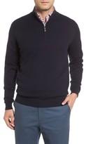 Peter Millar Men's Mock Neck Quarter Zip Wool & Cotton Sweater