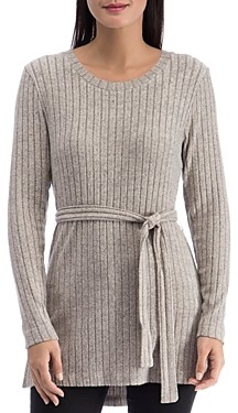 B Collection by Bobeau Beau Cozy Belted Ribbed Tunic