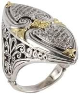 Konstantino Women's Asteri White Diamond, 18K Yellow Gold and Sterling Silver Ring