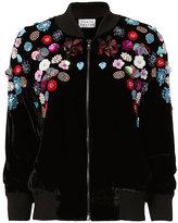 Tanya Taylor Embellished Velvet Bomber Jacket
