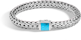 John Hardy Women's Classic Chain 7.5MM Bracelet in Sterling Silver with Natural Arizona Turquoise