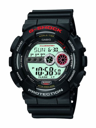 Casio Men's XL Series G-Shock Quartz 200M WR Shock Resistant Resin Color: Black (Model GD100-1A)