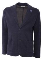 Daniele Fiesoli Men's Blue Cotton Blazer.