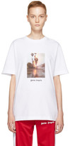 Palm Angels White Burning T-shirt
