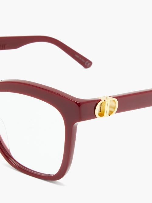 Thumbnail for your product : Christian Dior 30montaignemini Butterfly Acetate Glasses - Red