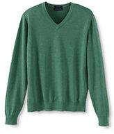 Classic Men's Fit Supima Cotton V-neck Sweater-Dark Pine Green
