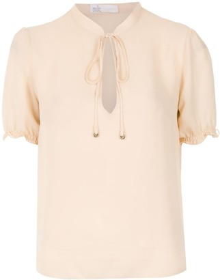 Nk Pussy Bow Silk Blouse