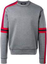 DSQUARED2 asymmetric stripe detail sweatshirt