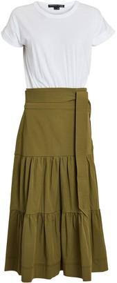 Veronica Beard Trail Mixed Media Midi Dress