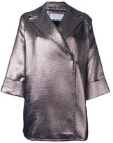 Gianluca Capannolo metallic (Grey) 'Emma' coat