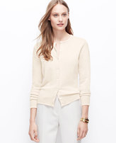 Ann Taylor Cashmere Crew Neck Cardigan