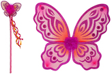 Pink Butterfly Wings & Wand Set