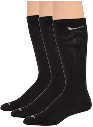 Nike Every Plus Lightweight Crew 3-Pair Pack (Black/White) Low Cut Socks Shoes