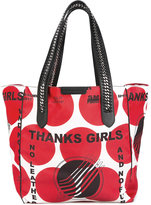 Stella McCartney Thanks Girls print Falabella GO tote bag - women - Nylon - One Size