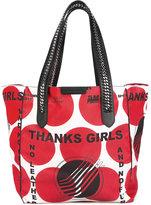 Stella McCartney Thanks Girls print Falabella GO tote bag