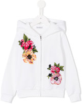 Dolce & Gabbana sequin floral embroidered hoodie - kids - Cotton - 6 yrs