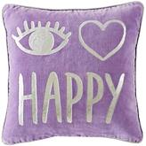 I Heart Happy Throw Pillow Cover