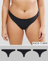 Asos 3 Pack Seam Free Thongs