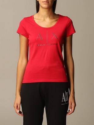 Armani Exchange Half Sleeve Crewneck Logo Studs Slim