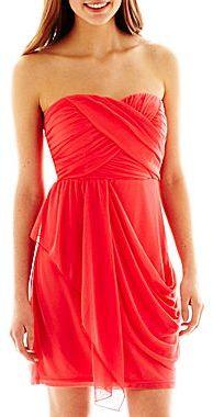 My Michelle Draped Chiffon Dress