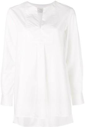 Co neck slit blouse