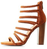 Charlotte Russe Bamboo Strappy Braided Sandals