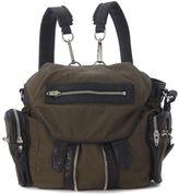 Alexander Wang Mini Marti Backpack In Green Fabric