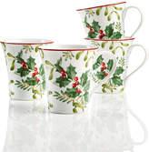 222 Fifth Christmas Foliage 4-Pc. Mug Set