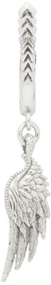 Emanuele Bicocchi Silver Single Wing Hoop Earring