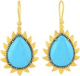 Turquoise and Diamonds Flame Earrings