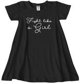 Urban Smalls Black 'Fight Like a Girl' Dress - Toddler & Girls