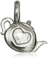 "Alex Woo Mini Additions"" Sterling Silver Teapot Charm"