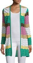 M Missoni Colorblock Zigzag Cardigan