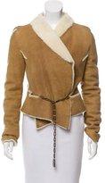 Jitrois Shearling Asymmetrical Jacket
