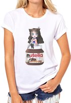 ANGRYDEER Nutella Jar Anime I Love Nutella Girl Quality Womens T-Shirt