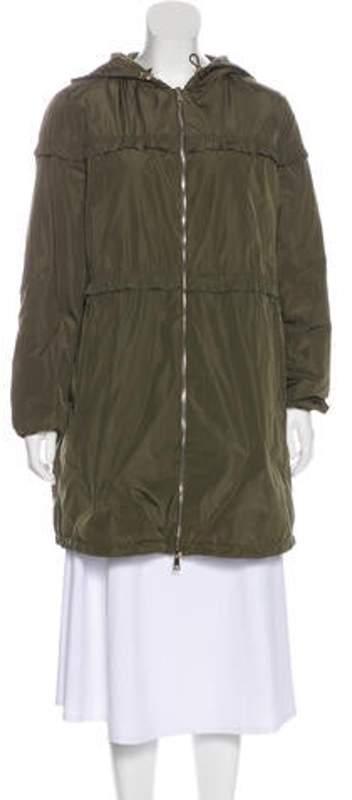 d60efe56f Down Hooded Coat Olive Down Hooded Coat