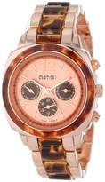 August Steiner Women's AS8062RG Resin Swiss Quartz Multi-Function Bracelet Watch