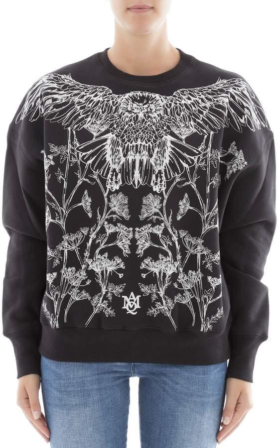 Alexander McQueen Black Cotton Sweater