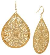 Filigree Teardrop Drop Earring - Gold