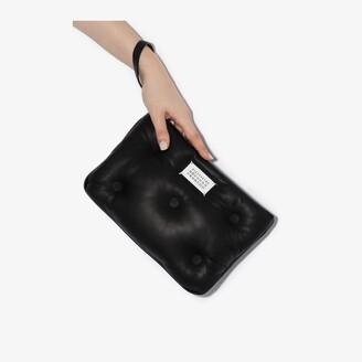 Maison Margiela black Glam Slam padded leather clutch bag