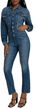 Good American Denim Jumpsuit in Blue190