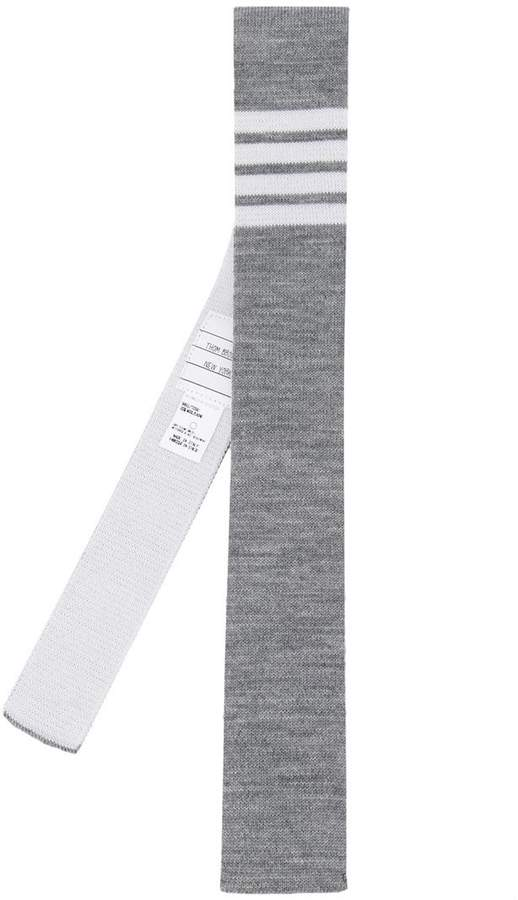 Thom Browne striped knitted tie